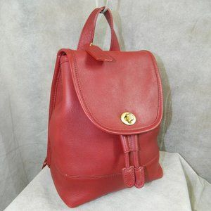 COACH Small Daypack Backpack Bag 9960 RED EXC!